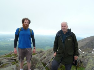 Alex and Nigel at Cruachan Summit