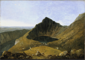 Richard Wilson, Llyn-y-Cau, Cader Idris ?exhibited 1774, in Nigel Llewellyn and Christine Riding (eds.), The Art of the Sublime, Tate Research Publication, January 2013, https://www.tate.org.uk/art/research-publications/the-sublime/richard-wilson-llyn-y-cau-cader-idris-r1105618, accessed 05 December 2016