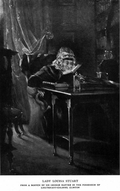 Lady Louisa Stuart at her writing desk (Wikimedia Commons).