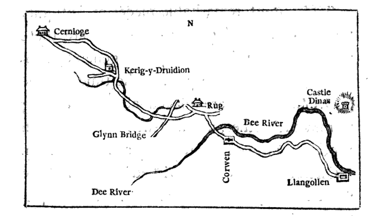 Map from Rev. Richard Warner's, A Walk Through Wales, 1798.