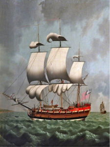 William Jackson, 'A Liverpool Slave Ship' (National Museums Liverpool) BBC Paintings [1], Public Domain