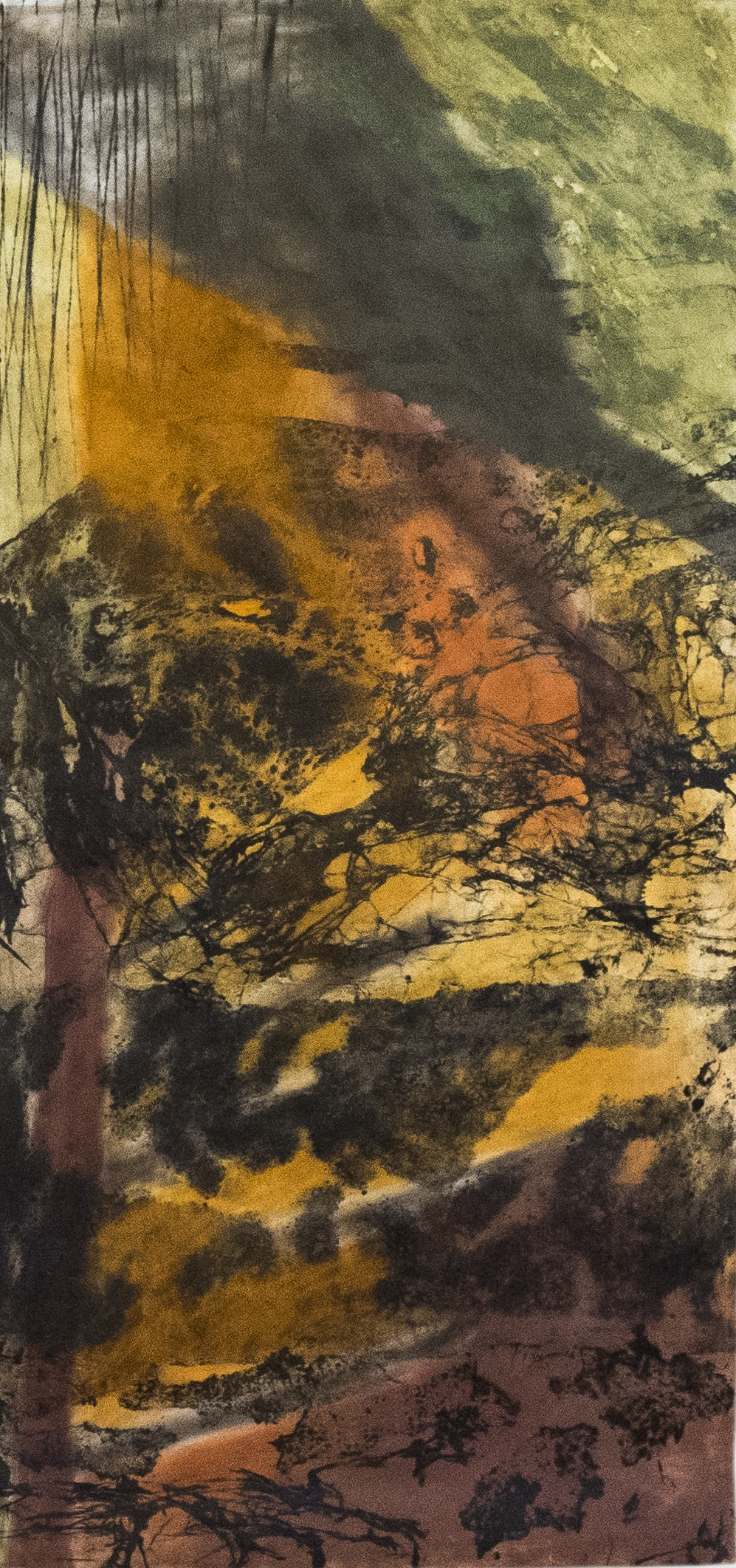 Alison Lochhead - Parys Mountain III (2016), collograph print