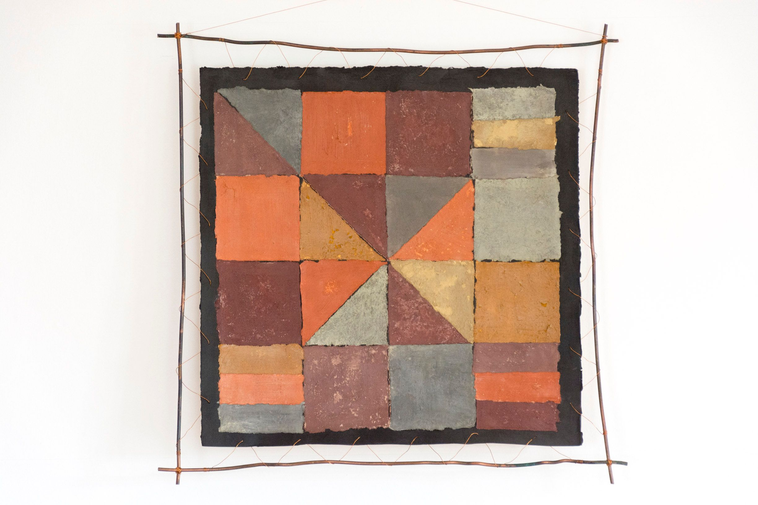 Barbara Matthews - A Quilt for a Copper Lady (2016), paper, pigment from Parys Mountain and copper