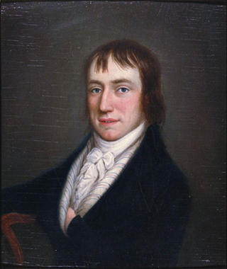 Wordsworth as a young man in 1798, by William Shuter. (wikimedia commons)