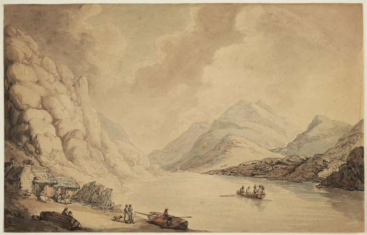 'Snowdon from Llanberis Lake' by Thomas Rowlandson (1797) [wikimedia commons]